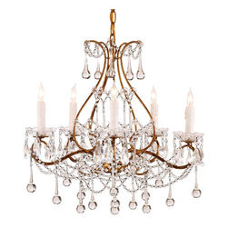 Currey and Company - Currey & Co Paramour Chandelier - Simple crystal chandelier.