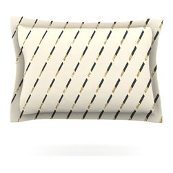 """Kess InHouse - Nika Martinez """"Glitter Diagonals in Gold"""" Tan Pillow Sham (Cotton, 30"""" x 20"""") - Pairing your already chic duvet cover with playful pillow shams is the perfect way to tie your bedroom together. There are endless possibilities to feed your artistic palette with these imaginative pillow shams. It will looks so elegant you won't want ruin the masterpiece you have created when you go to bed. Not only are these pillow shams nice to look at they are also made from a high quality cotton blend. They are so soft that they will elevate your sleep up to level that is beyond Cloud 9. We always print our goods with the highest quality printing process in order to maintain the integrity of the art that you are adeptly displaying. This means that you won't have to worry about your art fading or your sham loosing it's freshness."""