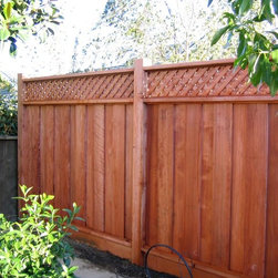 Fences - Installation of a wood fence.