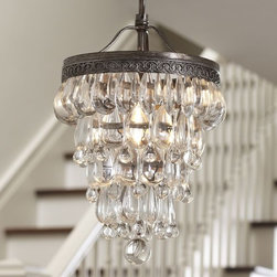 Clarissa Glass Drop Small Chandelier | Pottery Barn -