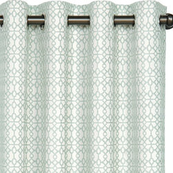 Gwyneth Montoya Jade Curtain Panel Set - This collection of luxury window treatments is classic and sophisticated. They would be a nice addition to a living room.