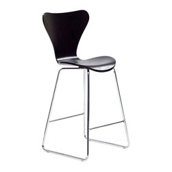LexMod - Arne Jacobsen Style Series 7 Bar Stool Chair in Wenge - Minimalist in nature though it may be, this seat doesn't skimp on comfort. Its seemingly rigid design, flexes to the contours of the human body, making it a great bar stool for homes and businesses alike.