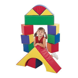 Childrens Factory - Children's Factory 9 in. Block Set - Set of 12 Multicolor - CF331-504 - Shop for Swings Slides and Gyms from Hayneedle.com! About The Children's Factory Kirkwood Mo 1982 - The Childrn's Factory was created in the attic of its founders. Their vision was to create a soft play environment where children could play safely. They started with a basic 3D animal shape perfectly sized for a young child. From there other products were developed and the company quickly grew in size. Soft safe creative play is their passion. Their products are designed towards ASTM standards and their materials meet or exceed the CPSIA requirements.