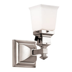 Deschutes Mission Wall Bracket - Return to the arts and crafts style in polished nickel.