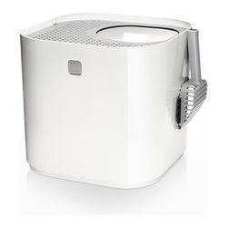 Modko - Modko Modkat Litter Box White - This award winning cat litter box looks great out and keeps litter in. Modkat is a top entry cat litter box that embraces form as well as function, works with your décor and greatly reduces litter tracking. Its modern, patented design compliments any room, while the enclosed base and rooftop' access allows your cat the privacy needed to do their business.