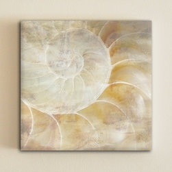 Sea Shell Canvas Art By One Design - Beautiful neutrals with a casual, but unexpected vibe. It's like peeking in a vacation.