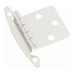 Hickory Hardware - Semi-Concealed Flush Mount Hinge, Flush, 2-Pack (Set of 10) (Satin Nickel) - Finish: Satin Nickel.