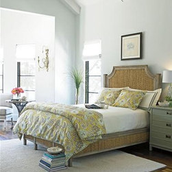 Coastal Living Resort Water Meadow Woven Bed - I love this bed for a coastal style home. The wicker is so beautiful!