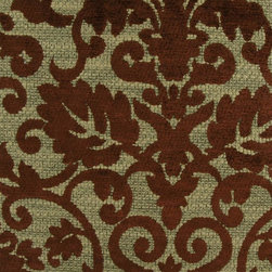 Damask - Cocoa Upholstery Fabric - Item #1008033-78.