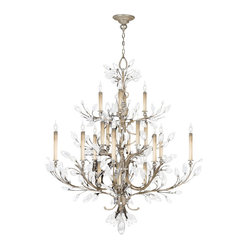 Crystal Laurel Silver Chandelier, 771140ST