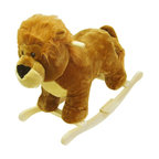 """Trademark Global - Handcrafted Plush Lion Rocking Animal with Wo - Recommended for ages 2 yrs. old & up. Recommended Weight Limit: 80 lbs.. Soft and plush to the touch. Hand crafted with a hard wood core and stands on sturdy wood rockers. 25.50 in. L x 14.50 in. W x 20 in. H (13 lbs.). Seat Height: 18 in.This cuddly creature is a wonderful toy and a beautiful piece of furniture. Your child will love riding this """"King Of The Jungle"""" with its fabulous life-like appearance. It is soft and plush to the touch from mane to tail. This animal will make a bold addition to any child's room."""