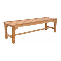 Anderson Teak - Hampton 3-Seater Backless Bench - Unlike our benches and chairs with backs, the lowest point in this seat's curve is directly in the center, allowing you to face in either way. This bench also can be used f or seating at our rectangular dining table or in area where a bench with a back would be just too tall. Add a planter box or two f or a farming, nestled in effect.