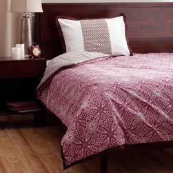 None - Cocalo Iris 2-piece Twin-size Bedding Set - Elegant in design,this twin-size comforter set features a floral-inspired Iris pattern. Made from polyester and cotton,this attractive comforter set also includes a pillow sham to complete the look.