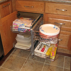 Traditional Kitchen Drawer Organizers by S & S Custom Cabinets Inc
