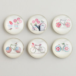 Bikes and Birds Magnets - These magnets are so sweet and whimsical. They're perfect for a magnetic board.