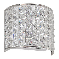 Dainolite - Dainolite V677-1W-PC 1 Light Crystal Sconce Pc Finish - Dainolite V677-1W-PC 1 Light Crystal Sconce PC Finish
