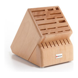 Wusthof - Wusthof 25-Slot Mega Block - The Wusthof 25 slot storage block holds all sizes of Wusthof cutelry. Safely store your knives in a safe and convenient storage block.