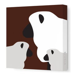 """Avalisa - Animal - Sheep Stretched Wall Art, 28"""" x 28"""", Brown -"""
