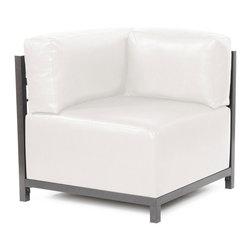 Howard Elliott - Howard Elliott Avanti White Axis Corner Chair Slipcover - Axis corner chair Avanti white slipcover