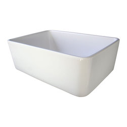 "ALFI brand - White 23"" Fireclay Single Bowl Farmhouse Kitchen Sink - ALFI brand fireclay farm sinks are a throwback to a simpler time. Designed to offer the traditional popular look of an apron farm sink with a contemporary twist. Made of the highest quality solid fireclay to insure it not only looks great but also lasts for a very long time."