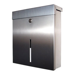 Mailbox X Wall Mount Mailbox - The Mailbox X Knobloch Wall Mount Mailbox is made in Germany and features a clean, modern look. Knobloch locking mailboxes are constructed of stainless steel and aluminum. This residential mailbox features a viewing window slot on the front so you know when you have mail.