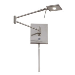 George Kovacs - George Kovacs P4328-084 LED Brushed Nickel Swing Arm Wall Sconce - Brushed Nickel Finish