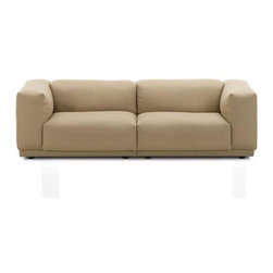 Vitra - Vitra Place Two-Seater Sofa - Here's a sofa you'll sink into with a blissful smile. Low slung and plushly cushioned yet with classic modern style, it's an invitation to relaxation. Aren't you glad you're home?