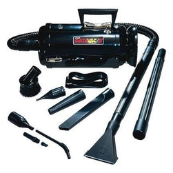 "Metropolitan Vacuum - DataVac(R)/3 Pro Vacuum 1.7 peak HP - METRO Vac DataVac MDV-3BA Vacuum/Blower -  Black Body/Black Attachments.  Includes:  Deluxe Power Unit (1.7 PHP 2 Speed Motor)  Cord Storage Halo  3' Flexible Hose  2-20? Extension Wands  PikAll Nozzle  Powerizer Air Maximizer  Crevice Tool  Dusting Brush  Air Pin Pointer  Shoulder Strap 3 Disposable Bags  plus 4 pc. Micro Cleaning Tool Kit.  For maximum maintenance and heavy-duty cleaning flick the switch to ""high"" and get the full use of Data-Vac/3's 1.7 PHP Motor. Toner pick-up capability and 50% more power than the MDV-2BA. (Includes all MDV-2BA features and accessories.   ."