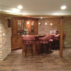 Traditional Basement by P&M Renovations