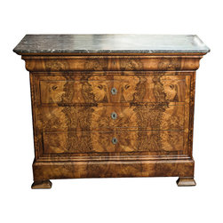 Beautiful French Antique Burled Walnut Chest - The HighBoy, Creative Works