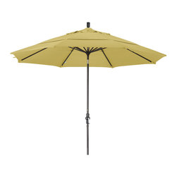 California Umbrella - 11 Foot Sunbrella Aluminum Crank Lift Collar Tilt Market Umbrella, Bronze Pole - California Umbrella, Inc. has been producing high quality patio umbrellas and frames for over 50-year . The California Umbrella trademark is immediately recognized for its standard in engineering and innovation among all brands in the United States. As a leader in the industry, they strive to provide you with products and service that will satisfy even the most demanding consumers.