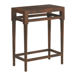 Sherrill Occasional - Sherrill Occasional Side Table 356-910 - Just the right scale as a chairside table to set down your favorite book or current magazine. Qtrd. ash veneered top.