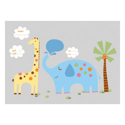 York Wallcoverings - Jungle Animals Wall Accent Set New Baby Nursery Stickers - Features: