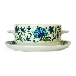 Lavish Shoestring - Consigned Spanish Garden Soup Bowl by Midwinter, Vintage English, 1970s - This is a vintage one-of-a-kind item.