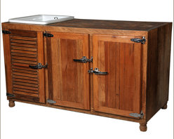 Mission Solid Wood & Ceramic Wine Rack Kitchen Sink Cabinet - You'll be the talk of the town with this Mission Solid Wood & Ceramic Wine Rack Kitchen Sink Cabinet. Entertaining is easy when everything is in one place.