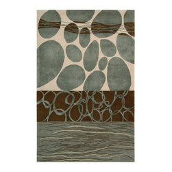 Nourison - NOUR-64696 Nourison Dimensions Area Rug Collection - This collection features modern abstract and geometric designs in rich contemporary colors. The addition of Luxcelle in some of the designs adds sheen and movement. Make a bold artistic statement in any room with these exciting rugs.