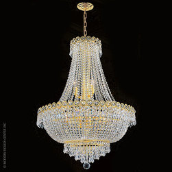 Worldwide Lighting Empire Chandelier W83048G24 - Worldwide Lighting Empire Collection 12 light Gold Finish and Clear Crystal Chandelier