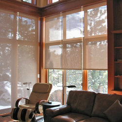 Roller Shades, Solar Shades & Outdoor Shades - The sun can be overwhelming at times with the brightness and high temperatures.  Shades are also a great way to block harmful ultra-violet rays to protect your hardwood flooring, furniture and artwork from fading. There are different types of shades that were engineered to solve a specific dilemma.
