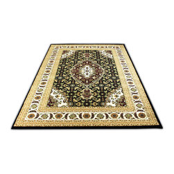 Rug - ~5 ft. x 8 ft. Black/Brown Modern Indoor Living Room Area Rug, Machine Made - (Machine Made) MONA LISA COLLECTION: