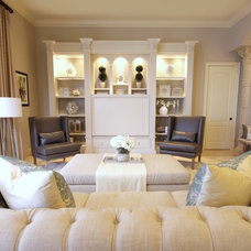 Transitional Living Room by IN Studio & Co. Interiors