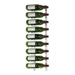 VintageView 18 Bottle Metal Wine Rack