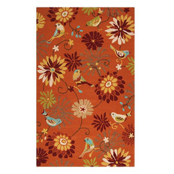 Surya - Indoor/Outdoor Rain 5'x8' Rectangle Orange Area Rug - The Rain area rug Collection offers an affordable assortment of Indoor/Outdoor stylings. Rain features a blend of natural Orange color. Hand Hooked of 100% Polypropylene the Rain Collection is an intriguing compliment to any decor.