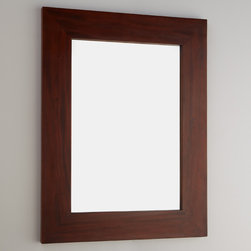"""24"""" Iwan Mahogany Vanity Mirror - Complement you bathroom decor with 24"""" Iwan Vanity Mirror, made of reddish-brown mahogany. This simply designed mirror adds a focal point to any room."""