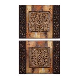 Uttermost - Artwork Reproduction Ornamentational Block I Ii  Set of 2 Wall Art - Artwork Reproduction Ornamentational Block I Ii  Set of 2 Wall Art