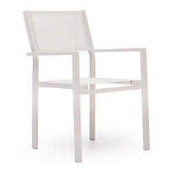 Zuo Modern - Zuo Silverstrand Chair in White - Silverstrand Chair in White by Zuo Modern Sleek and stylish, the Silverstand dining set is the perfect mix of durability and functionality all in a stylish design. The frame is aluminum and the and the seats are a textile weave. Chair (1)