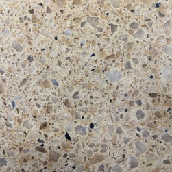 HanStone Autumn Leaf Quartz - HanStone Quartz: This is a sample of Autumn Leaf from the HanStone brand of quartz countertops. Han Stone quartz is the new and gorgeous lineup of quartz kitchen countertops offered by the large Korean congolmerate Hanwha.
