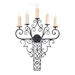 EuroLux Home - New 5-Light Wall Sconce Iron Hand-Crafted - Product Details