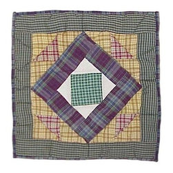 Patch Magic - Square Diamond Toss Pillow - 16 in. W x 16 in. L. 100% Cotton. Machine washable.. Line or flat dry onlyDecorative applique Quilted Pillow.