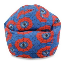 American Furniture Alliance - Junior Spider Web Bean Bag Chair Cover - Bean Bag Factory offers a bean bag for everyone. Junior Bean Bag Covers are amazingly comfortable and designed with your child in mind.