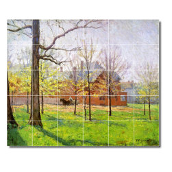 Picture-Tiles, LLC - Talbott Place Tile Mural By Theodore Steele - * MURAL SIZE: 40x48 inch tile mural using (30) 8x8 ceramic tiles-satin finish.